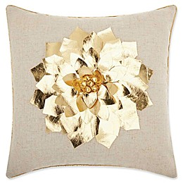 Mina Victory Metallic Floral Square Throw Pillow