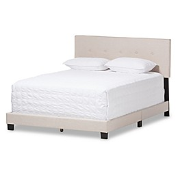 Baxton Studio Hampton Upholstered Platform Bed