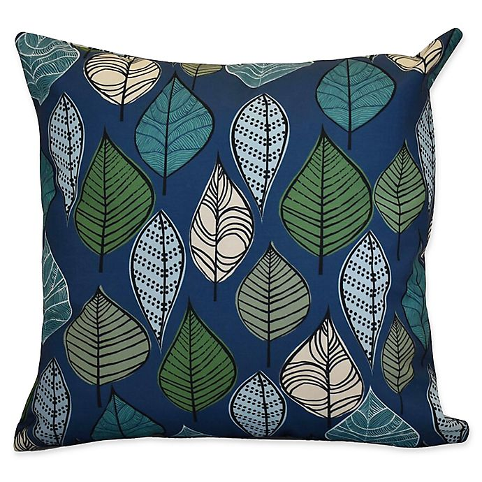 Alternate image 1 for E by Designs Autumn Leaves Floral Square Throw Pillow