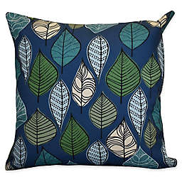 E by Designs Autumn Leaves Floral Square Throw Pillow