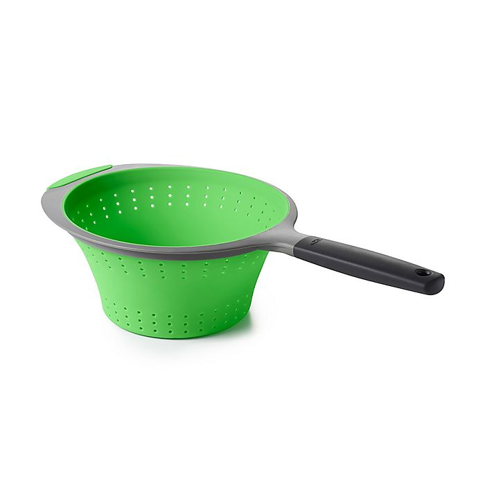 Alternate image 1 for OXO 2 qt. Collapsible Colander in Green