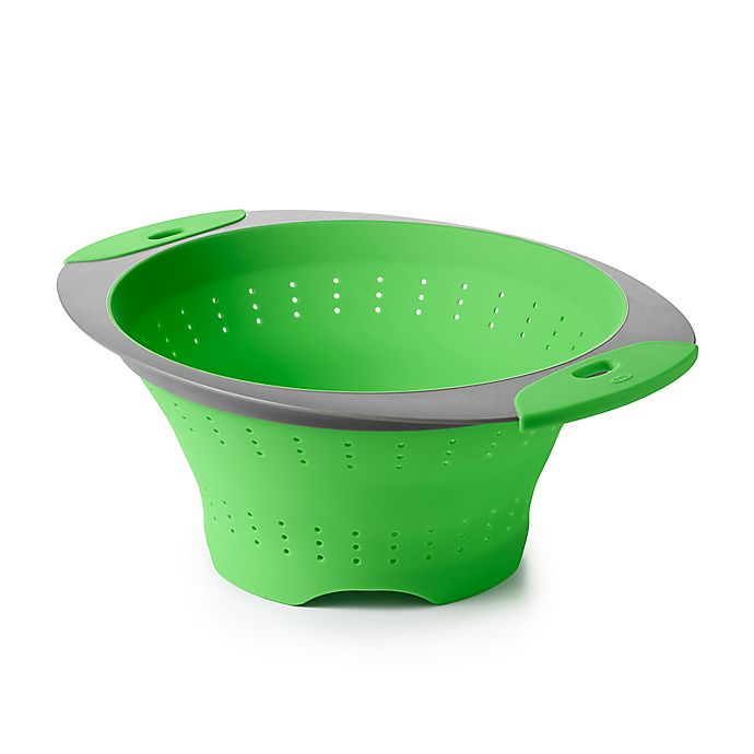 Alternate image 1 for OXO 3.5 qt. Collapsible Colander in Green