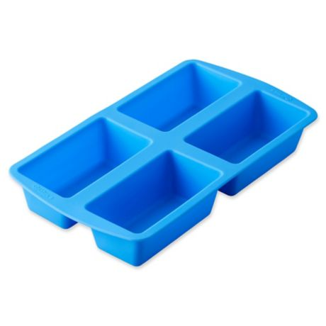Wilton 174 Easy Flex 4 Compartment Silicone Mini Loaf Pan