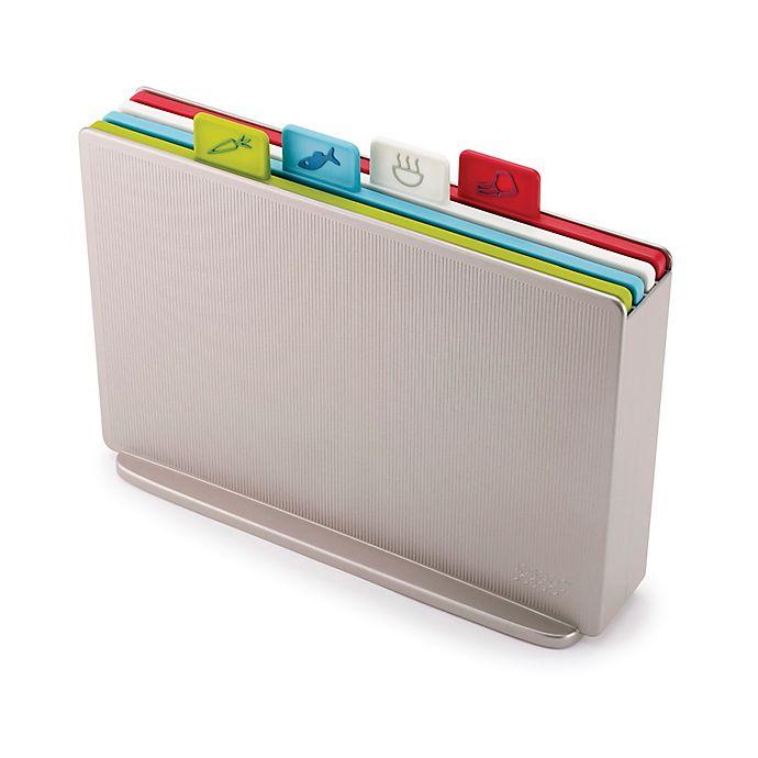 Alternate image 1 for Joseph Joseph® 4-Piece Index™ Color-Coded Cutting Board Set