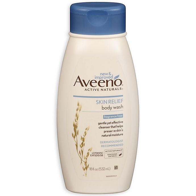 Alternate image 1 for Aveeno® Active Naturals® 18 oz. Fragrance-Free Skin Relief Body Wash