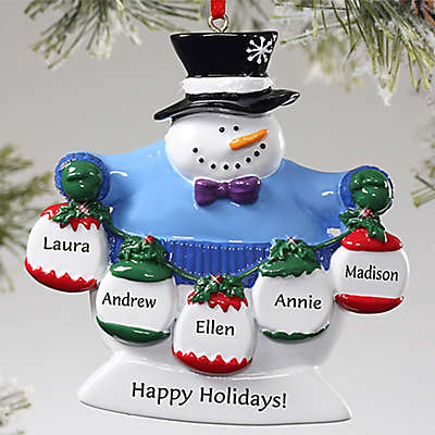 Frosty Family 5-Name Ornament