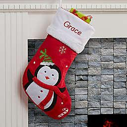 Santa Claus Lane Penguin Christmas Stocking