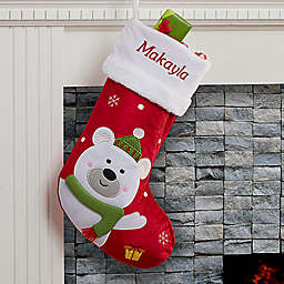 Santa Claus Lane Polar Bear Christmas Stocking