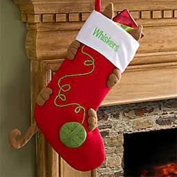 Love My Kitty Embroidered Cat Christmas Stocking