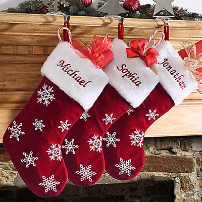Winter Wonderland Snowflake Christmas Stocking
