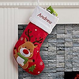 Santa Claus Lane Reindeer Christmas Stocking