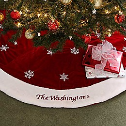 Winter Wonderland Embroidered Tree Skirt