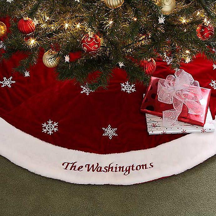 Winter Wonderland Embroidered Tree Skirt Bed Bath Amp Beyond