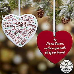 Close To Her Heart 2-Sided Christmas Ornament