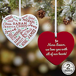 close to her heart 2 sided christmas ornament - Christmas Decorations Canada