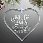 The Happy Couple Heart Ornament