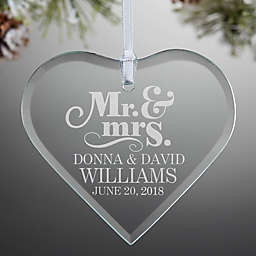 the happy couple heart ornament