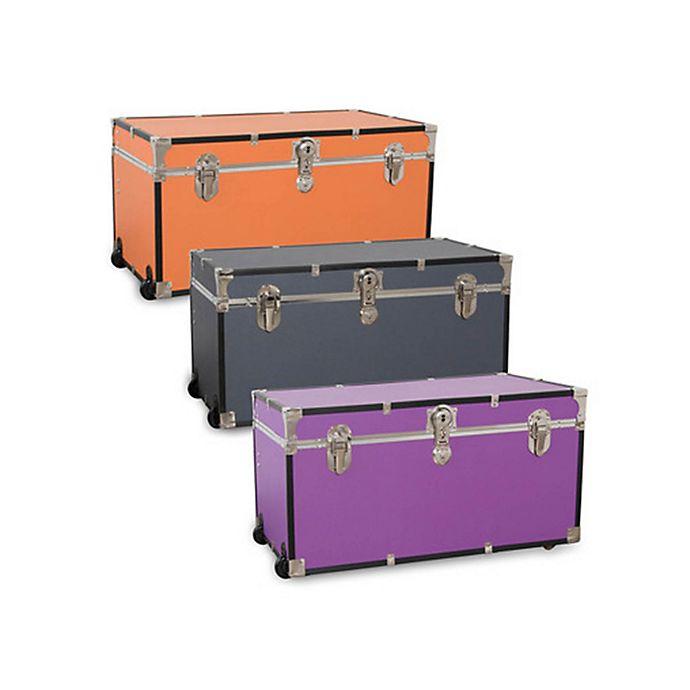 Alternate image 1 for Mercury Luggage/Seward Trunk 31-Inch Rolling Foot Locker