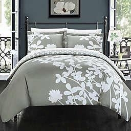 Chic Home Camellias Reversible Duvet Cover