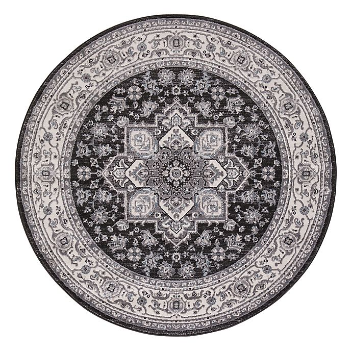 Alternate image 1 for Lara Heriz 5-Foot 3-Inch Round Rug in Anthracite