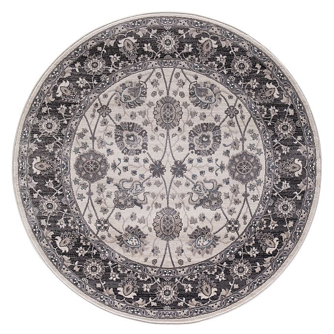 Alternate image 1 for Lara Vase 5-foot 3-Inch Round Area Rug in Ivory/Grey