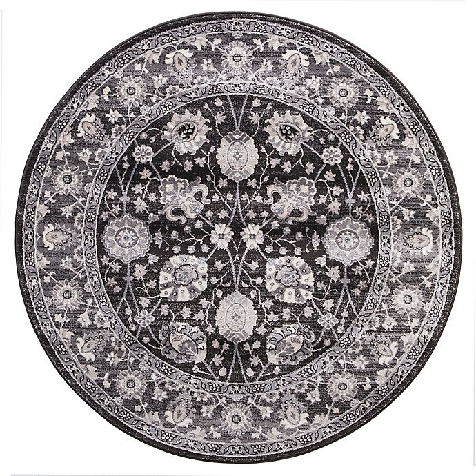 Alternate image 1 for Lara Vase 5-foot 3-Inch Round Area Rug in Anthracite