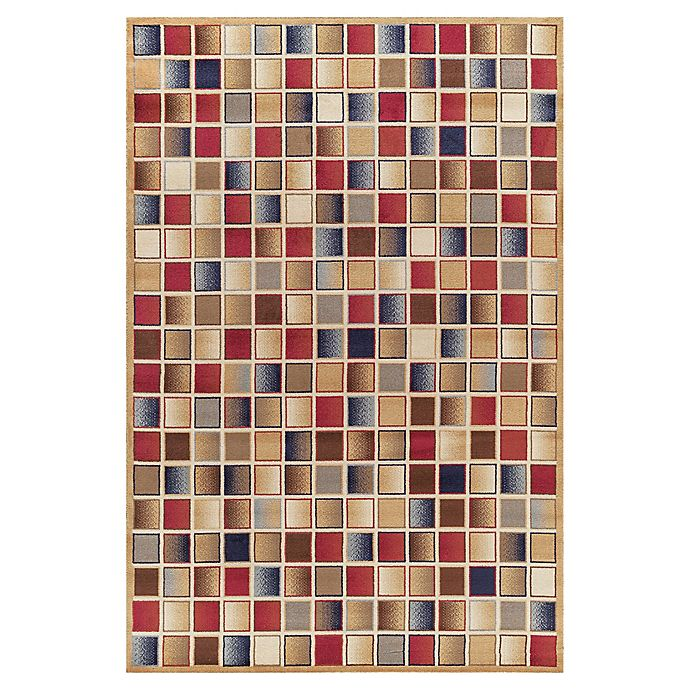 Checkerboard Rug: Jewel Checkerboard Rug In Gold