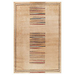 Concord Global Trading Jewel Stripes 3-Foot 11-Inch x 5-Foot 7-Inch Area Rug in Ivory