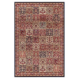 Concord Global Trading Jewel Panel Rug in Red