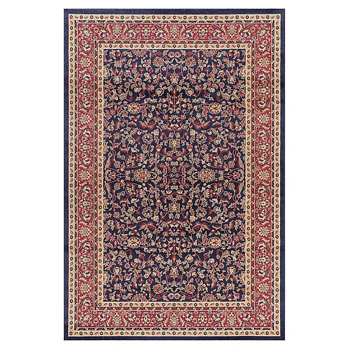 Alternate image 1 for Jewel Kashan 7-Foot 10-Inch x 9-Foot 10-Inch Area Rug in Navy