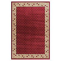 Jewel Harmony 7-Foot 10-Inch x 9-Foot 10-Inch Area Rug in Red