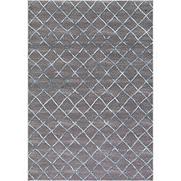 Thema Theo 3-Foot 3-Inch x 4-Foot 7-Inch Accent Rug in Teal/Grey