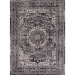 Kashan Heriz 7-Foot 10-Inch x 9-Foot 10-Inch Area Rug in Anthracite