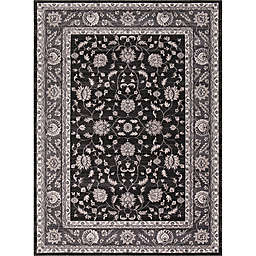 Kashan Mahal 3-Foot 3-Inch x 4-Foot 7-Inch Accent Rug in Anthracite
