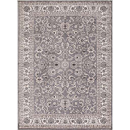 Concord Global Trading Kashan Bergama 3-Foot 3-Inch x 4-Foot 7-Inch Accent Rug in Grey
