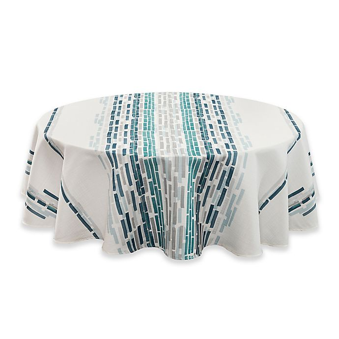 Alternate image 1 for Noritake® Milo 70-Inch Round Tablecloth in Blue