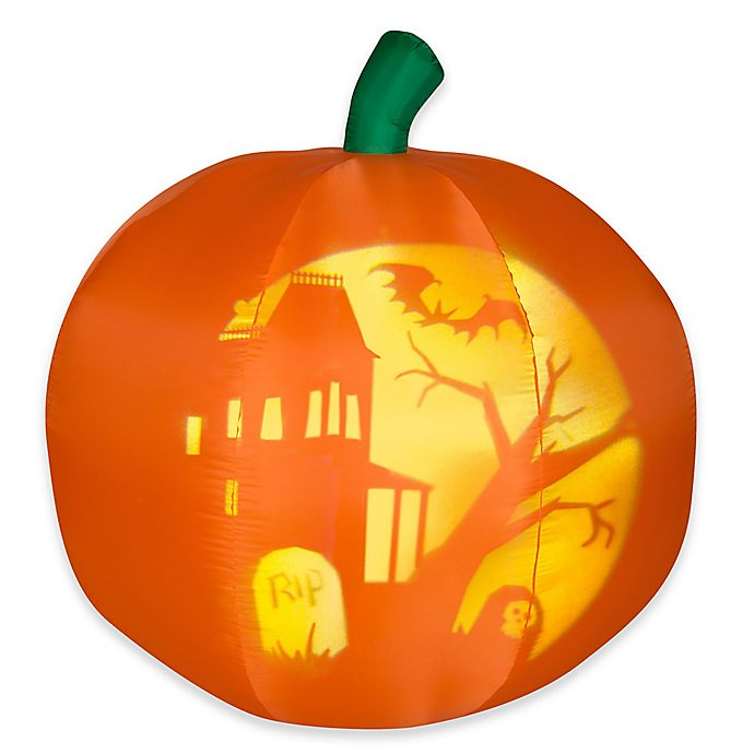 Alternate image 1 for National Tree Company® 5-Foot Inflatable Panoramic Projection Pumpkin