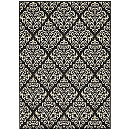 Nourison Grafix Machine Woven Area Rug in Black