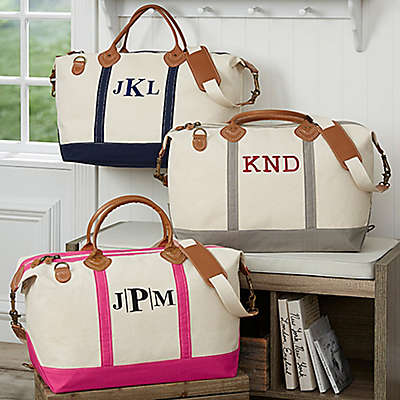 Luxurious Weekender Embroidered Canvas Duffle Bag Collection