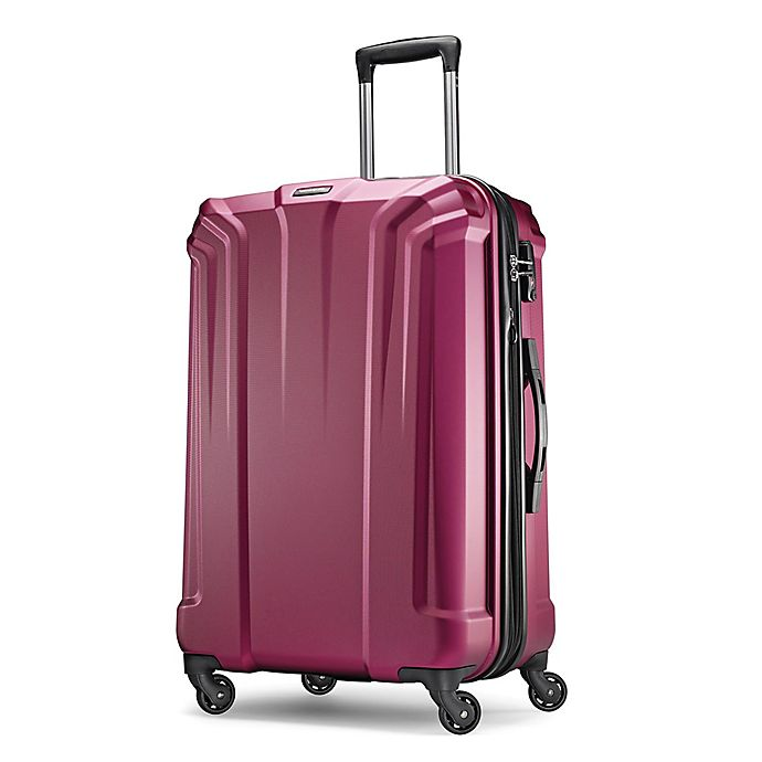 Alternate image 1 for Samsonite Opto 25-Inch Hardside Spinner Checked Luggage in Plum