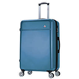 InUSA Avila 28-Inch Hardside Spinner Checked Luggage in Navy Blue