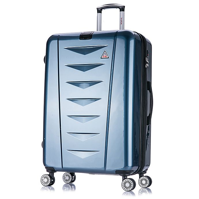 Alternate image 1 for InUSA Airworld 28-Inch Hardside Spinner Checked Luggage in Blue