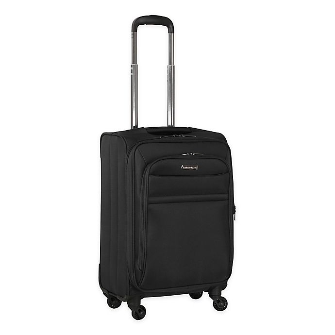 Alternate image 1 for Latitude 40°N® Ascent 20-Inch Spinner Carry-On Luggage in Black