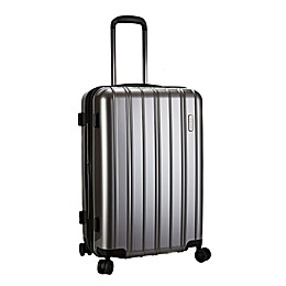 Latitude 40°N™ Ascent 25-Inch Hardside Expandable Rolling Upright Suitcase in Grey