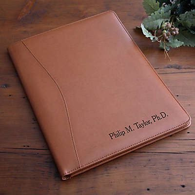 Executive 12.5-Inch Leather Portfolio in Tan