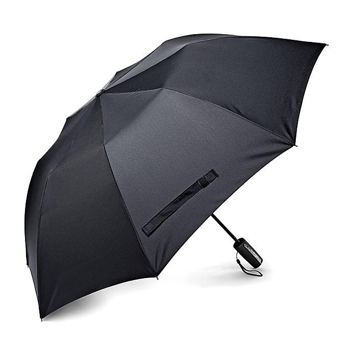 Alternate image 1 for Samsonite® Auto Open Travel Umbrella in Black