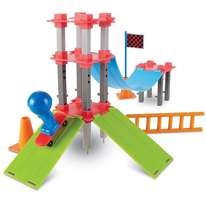 Alternate image 1 for Learning Resources® Skate Park Engineering & Design Building Set