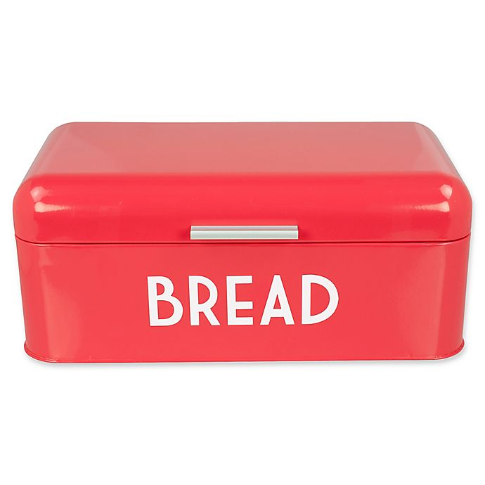 Alternate image 1 for Home Basics® Steel Bread Box in Red
