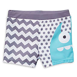 Doodle Pants Monster Swim Trunks in Blue