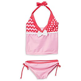 Doodle Pants® 2-Piece Monster Tankini Swimsuit in Pink